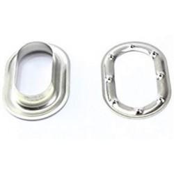 Œillet et rondelle ovale 40x20mm en Laiton