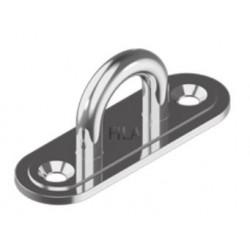 Pontet demi-rond en acier zingué, 27mm