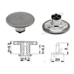 Bouton avec culot métal 17mm