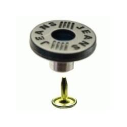 Bouton 17mm avec culot métal & clou acier
