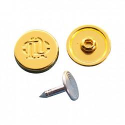 Rivet de coin de poche 9,5mm & clou aluminium