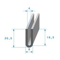 """Profil """"U"""" 20.5x8x4mm"""