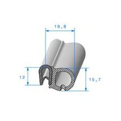 Pince PVC Armé avec Bulbe - 12x15.5x19.8 - EPDM Mousse - RL50M